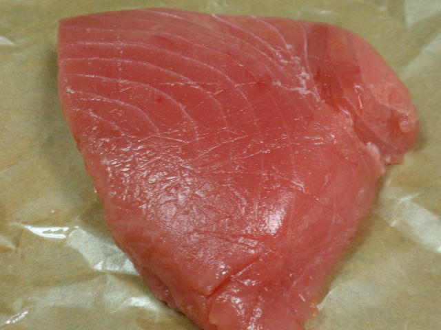 The ahi tuna was on sale - this steak only cost $5.80!